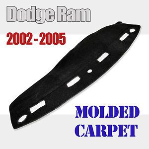 Molded Carpet Dash Cover Dodge RAM 1500 Pickup 02 05 Black