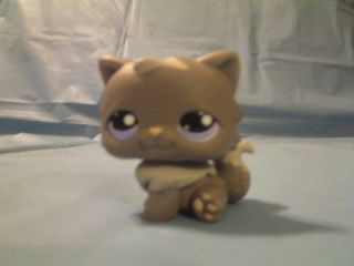 Hasbro Littlest Pet Shop LPS 2007 Gray Kitten Cat w Lavender Eyes Toy