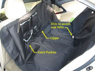 New Hammock Pet Dog Cat Car Seat Cover Black w Pockets