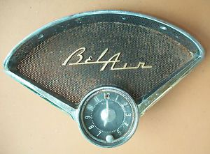 1950's Chevrolet Chevy Bel Air Dashboard Grille Speaker Cover Clock 3717180