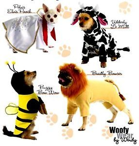 OOP Pet Dog Elvis Cow Lion Bumble Bee Costume Sewing Pattern Simplicity 2839
