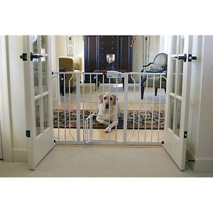 Carlson Super Wide Walk Through Door Pet Dog Puppy Gate Baby Protect New Block N