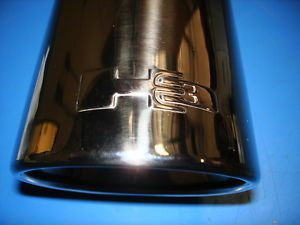H3 Dual Wall Chrome Exhaust Tip w Logo Genuine Hummer Accessory 17802018 S7