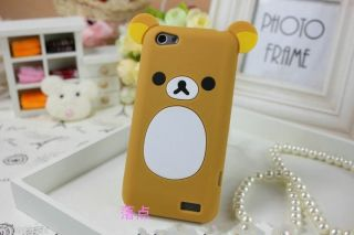 Lovely Cute Teddy Bear Ear Silicone Soft Cover Case for HTC One V T320e