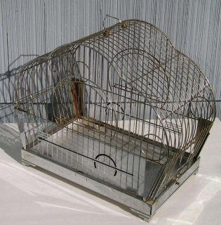 Antique Vintage Art Deco Chrome Glass Design Hendryx Bird Cage Mid Century Mod