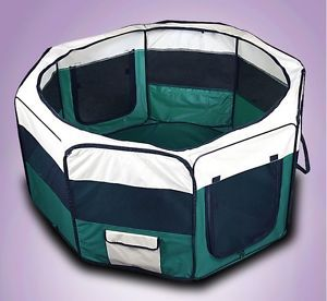 "New 48"" Pet Puppy Dog Large Playpen Kennel Crate Exercise Pen House XL Green"