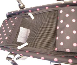 Pet Carrier Small Animal Tote Bag Cat Dog Travel Case New Pink Polka Dots