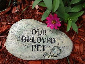 Pet Memorial Garden Stone Dog Memorial Bird Cat Pet Grave Marker Pet Headstone