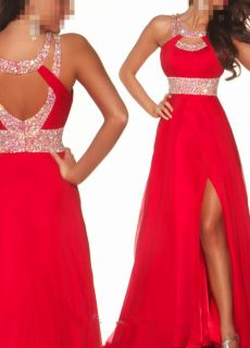 New Long Red Chiffon Bridesmaid Evening Ball Cocktail Prom Dresses Wedding Gown