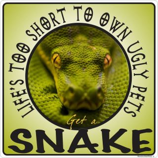 Great Ugly Pets Snake Tank Decal Reptile Sticker