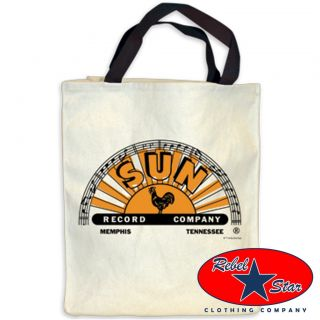 Sun Records Tote Bag Cool Rockabilly Tattoo Punk 60s Retro Country Cash Elvis