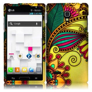 Colorful Design Hard Snap on Cover Case for LG Optimus L9 P769 T Mobile w Screen