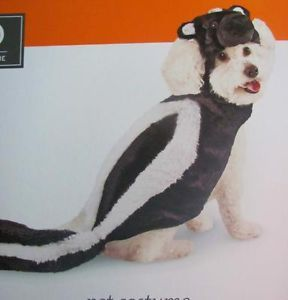 New with Tags Skunk Pet Apparel Dress Up Halloween Dog Costume Size Large