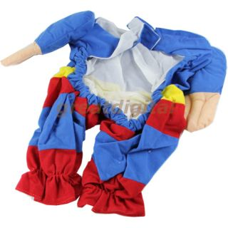 Cute Pet Cat Dog Puppy Cotton Clothes Costumes Superman Suit