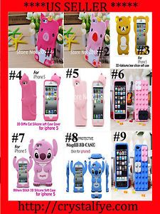 iPhone 5 5g Cases 6th Gen Cute Cartoon Phone Cases Disney Stitch Hello Kitty 3D