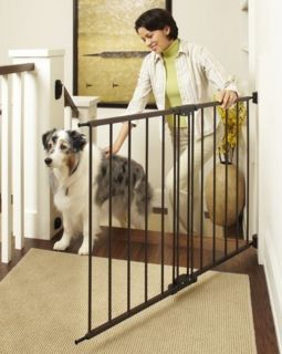 North States Easy Swing and Lock Stairway Stairs Pet Dog Child Gate Bronze 4950