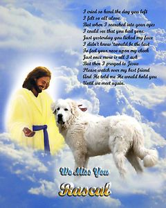 Great Pyrenees Dog Memorial Jesus Personalized w Name Unique Pet Loss Gift