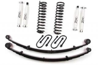 "1984 2001 Jeep XJ Cherokee 3"" Zone Offroad Suspension Lift Kit Cry 8 25 J21"