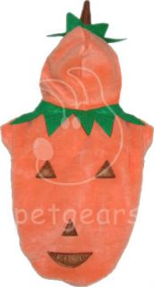 Pet Dog Cat Pumpkin Halloween Costume Orange Small Apparel Size 10 12 14 18