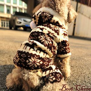 Pet Dog Puppy Winter Autumn Wapiti Coffee Costume Clothes Coats Hoodie Jacket