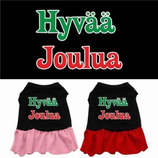 Dog Pet Puppy Christmas Xmas Hyvaa Joulua Princess Dress Clothes Apparel Skirt