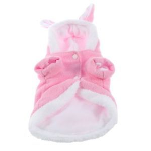 Pink Rabbit Plush Dog Apparel Pet Hoodie Costume Clothes Suit Coat for Pet