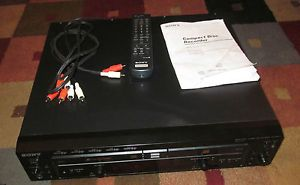 Sony RCD W500C Compact 5 Disc Changer CD CDR CD RW  Player and Recorder