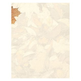 Crushed Fall Leaves Thanksgiving Autumn Stationery Computer Printer Paper