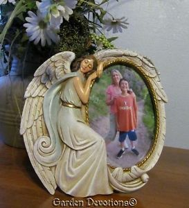 Weeping Angel Memorial Picture Frame Person Pet Cat Dog Holds 4x6 Print