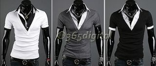 Mens Fashion Casual Slim Fit Shirts