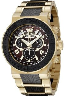 Invicta 6778 Ocean Reef Swiss Master Chronograph Calender Gold Plated Mens Watch