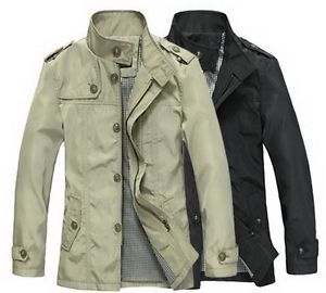 2013 Mens Casual Jacket Slim Coat Winter Warm Overcoat Casual Parka Trench New