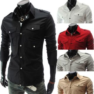 New Men's Stylish Slim Short Sleeve Casual Polo Shirt T Shirts Fashion 6 Colors