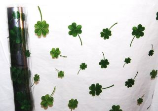 St Patricks Day Four Leaf Clover Cellophane Plastic Clear Party Gift Wrapping