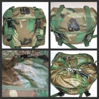 USGI Military Army USMC Woodland Camo Field Butt Pack Training MOLLE Web Gear
