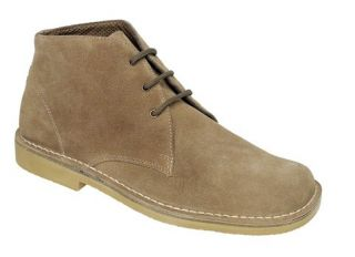 Roamers Mens M378 Sand Suede New Mens Desert Boots Shoes