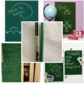Green Vinyl Chalk Board Removable Kids Child Nursery Wall Sticker Decal 5 Chalks