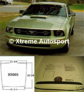 SEM HS005 Ford Mustang Hood Scoop Kit 94 95 96 97 98 05 13 Painted Any Color