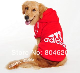 Red 7XL Pet Clothing Adidog Dog Warm Coat Clothes Apparel Hoodies Sweater Shirt