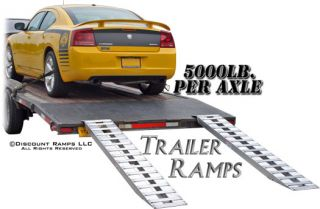 "94"" 5000 lb Aluminum Truck Car Trailer Ramps Plate Ends 05 15 094 06"