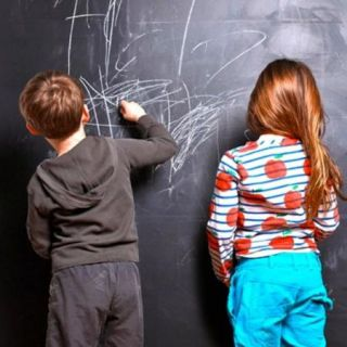 Chalkboard Blackboard Wall Stickers Decal Removable Kids Room Nursery Home Decor