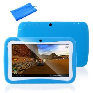 "Blue 7"" Google Android 4 0 Preschool Education Kids Mid Tablet Pad Camera Bag"