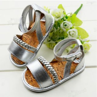 Soft Silver Toddler Baby Girls Princess Children's Sandals Shoe for 3 18 Months