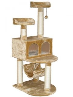 "54"" Cat Tree House Toy Bed Scratcher Post Furniture F29"