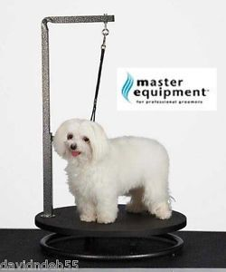 Master Equipment Rotating Small Pet Grooming Table Arm Clamp Loop Dog Cat Black