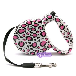 Pet Dog Lead Retractable Leash Rope Extend Flexible Safe Lock Strong Cord 9 Feet