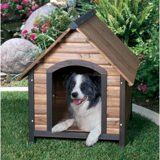 Outback Countrylodge Small Outdoor All Weather Durable Wood Pet Kennel Dog House