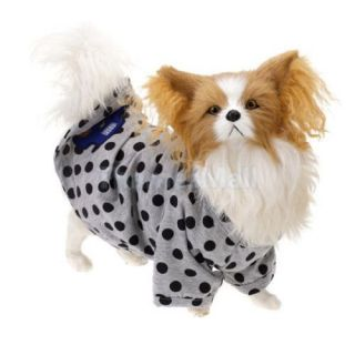 Pet Dog Puppy Dots Pattern Casual T Shirt Clothing Clothes Apparel Size XL 5285