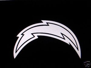 San Diego Chargers Bolt Custom Vinyl Decal Any Color