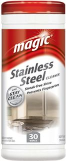 Magic Stainless Steel Chrome Cleaning Wipes Polish